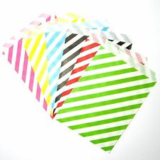 Baby shower favour bags, 25 50 stripes favour bags, wedding party decorations