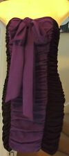 NEW PAPRIKA BLACK/PINK or BLACK/PURPLE RUCHED STRAPLESS DRESS Size 10, 12