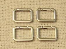 NEW ITEM!! RECTANGULAR Carabiners For Miche Bags; Silver/Nickel; Sets of 4 or 2