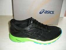 ASICS MENS DYNAFLYTE RUNNING SNEAKERS- SHOES- T6F3Y-9099 - BLACK/ ONYX / GREEN