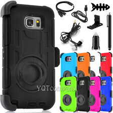 For Samsung Galaxy S8/S8 Plus Rugged Armor Case Belt Clip Holster Cover + Bundle