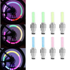 2 x Multi Colour LED Neon Car Bike Wheel Tire Tyre Valve Dust Cap Spoke Lights