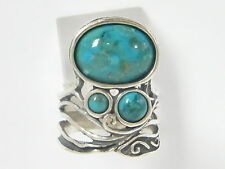 Sterling Silver 925 Ring multi stones Ring Turquoise Turquoise Women Ring