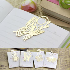 Creative Gold Metal Clip Bookmark Book Mark Magazine Label Reading Kid Gift