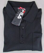 FILA SPORT Golf Men's Fitted Long Sleeve Performance Polo Shirt Black L, XL NEW