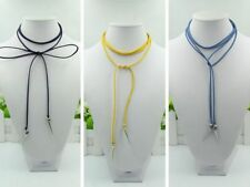 Fashion Concise Winding Velvet Rope Metal Collar Necklace Chain & Bracelet