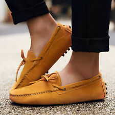 US Size Suede Leather Lined Mens Driving Moccasin Fashion Design Loafer Shoes
