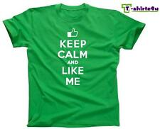 KEEP CALM LIKE ME Chive Chivery KCCO Facebook Post Spoof Funny T-Shirt NEW Green