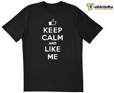 KEEP CALM LIKE ME Chive Chivery KCCO Facebook Post Spoof Funny T-Shirt NEW Black