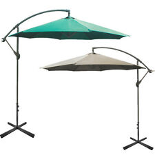 10' FT Outdoor Patio Umbrella Hanging Foldable Sun Shade Umbrella W/ Cross Base