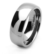 8MM Comfort Fit Tungsten Carbide Wedding Band Domed Clasic Tungsten Ring