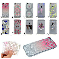 1X Rubber Flower Silicone Clear Soft TPU Cute Back Cover Case For Various Phones