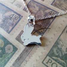 Silver Plated Rabbit Bunny Necklace Small Little Animal Pendant in Gift Bag/Box