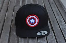 New Captain America Center 6089M Flexfit Yupoong Snapback Hat-Free Shipping!!!