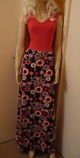 BNWT MAXI DRESS RED TOP / BLUE FLORAL PRINT /  IN SIZE 10 OR 12 ( BY B. YOU)