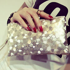 Stone pattern hand holding bag Woman Soft Handbag Hand Wristlet Clutch bag