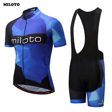 Cycling Bike Bicycle Sports Clothing Short Sleeve Jersey Bib Shorts Wear Suit