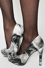 Iron Fist Dead On Punk Tattoo Rockabilly Skull Platform Heels Shoes IFW006004