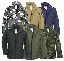 M65 FIELD JACKET MILITARY COAT ARMY MENS COMBAT PARKA + LINER SURPLUS WOODLAND