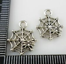 40/400pcs Tibetan silver Spider Weaving nets Charms Pendants 13x17mm