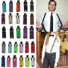 Fashion NEW Men Women Clip-on Suspenders Elastic Y-Shape Adjustable Braces X3P5