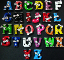 Wholesale 10PCS 8MM bow tie slide letters charms fit pet collar wristband