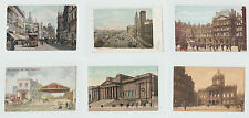 Vintage Postcards Liverpool The Exchange - Town Hall - Museum - Overhead Railway