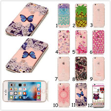 Clear Soft TPU Flower Lace Animal Silicone Cover Case For iPhone/Samsung/Huawei