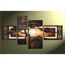HOT 4PC MODERN ABSTRACT HUGE WALL ART OIL PAINTING ON CANVAS WITH FRAMED