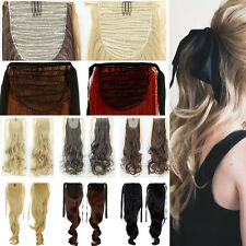 100% Natural Long Hair Wrap Clip in Ponytail Hair Extension Pony Tail Mixed US H