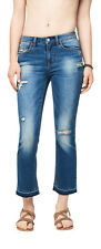 aeropostale womens seriously stretchy mid-rise crop skinny kick flare jean