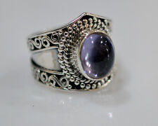 100% Color Change Lab Created Alexandrite 925 Solid Sterling Silver Ring # 4-13