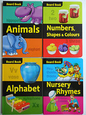 Pre-School Board Book Animals, Alphabet, Numbers Shape Colours or Nursery Rhymes