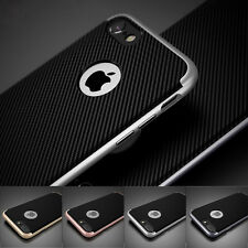 Hybrid Heavy Duty Armor Hard Frame Carbon Fiber Case Cover For Iphone 6S 7 Plus