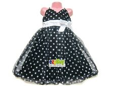 Black White Polka Dot Party Summer Girls Bubble Dress