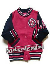 LA Casual Baseball Pink  Fleece Winter Girls Jacket