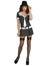 Mafiosa Deluxe Mafia Gangster Gang Criminal Mobsters 1920s Sexy Women Costume