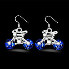 Jewelry Women Gift Crystal Earring Bicycle Fashion Earring Bike New 1Pair Design