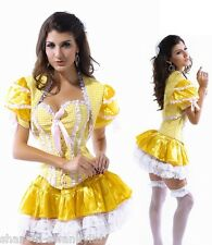 Ladies Sexy Goldilocks Fairy Tale Corset Halloween Fancy Dress Costume Outfit