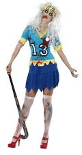 Ladies Zombie Hockey Player Sports Halloween Fancy Dress Costume Outfit UK 8-18
