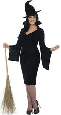 Ladies Sexy Plus Size Black Witch Halloween Fancy Dress Costume Outfit UK 16-30