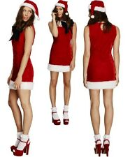 Ladies Fever Christmas Present Cutie Miss Sexy Santa Fancy Dress Costume Outfit