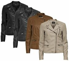 Ladies LEATHER Jacket FREYA Faux leather BIKER NOOS Faux leather 1510802 NEW