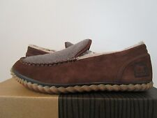 NIB Mens Sorel Dude Moc Moccassin Casual Leather Slippers Slip On Shoes Tobacco