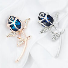 Clothing Alloy Brooch Gift 1Pcs Rose Flower Rhinestone Brooches jewelry Crystal