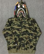 NWT Men's Japan A Bathing Ape Regular Coat Fashion Sweater Bape Shark Jaw Jacket