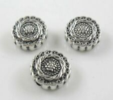 28/220pcs Tibetan Silver oblate flower Spacer Beads 4.5x10mm
