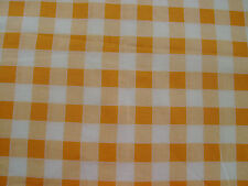 Vintage Feedsack Feed Flour Sack Yellow and White Check Print