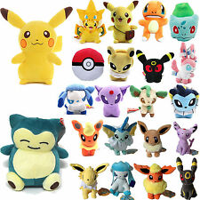 Pokemon Go Pikachu Eevee Squirtle Gengar Plush Stuffed Toy Doll Kids Collectible