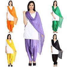 Salwar Dupatta Scarf Set Stitched Women's Patiala Free Size Cotton Ladies Pants